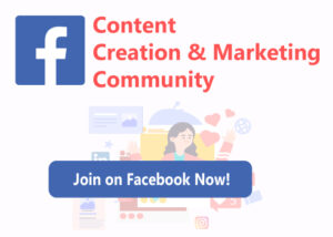 Join Content Creation and Marketing Community
