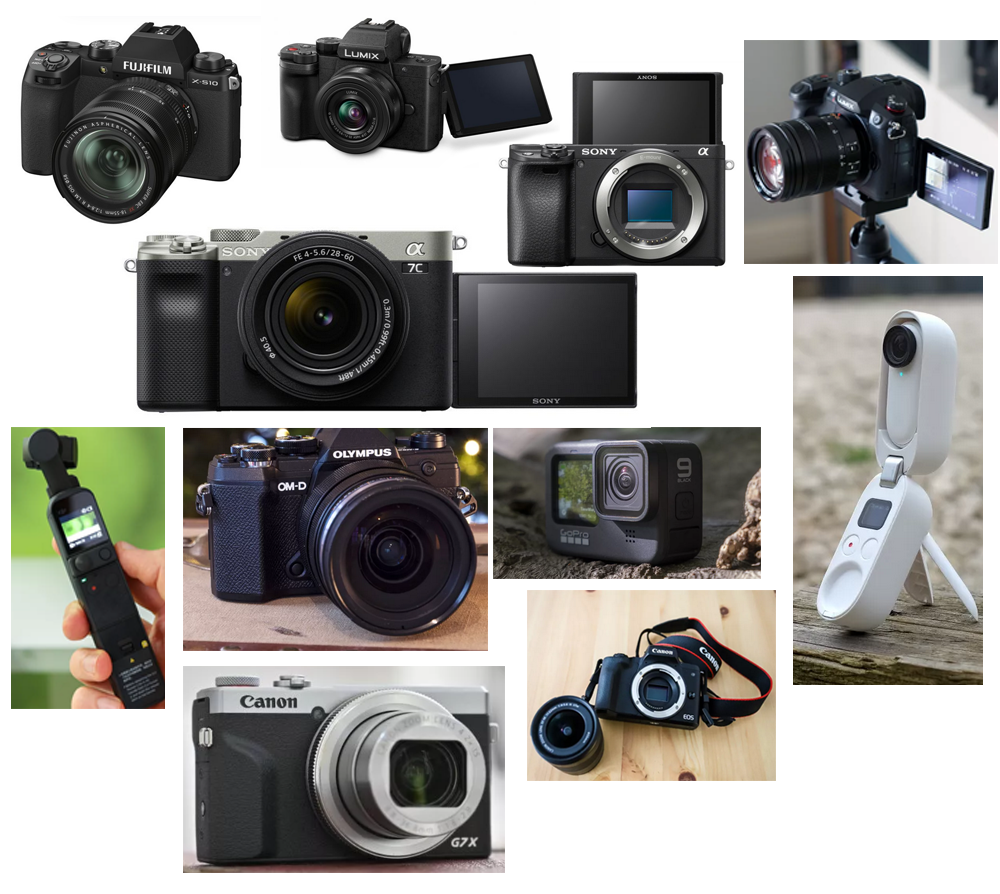 Cameras for vlog recording and editing