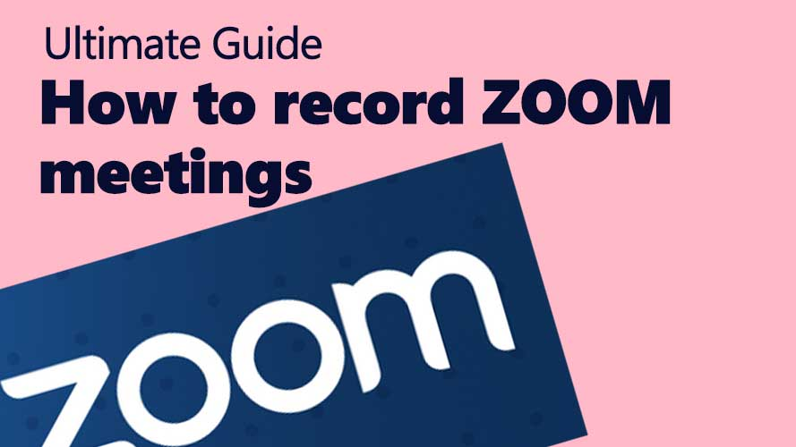 How to record a zoom meeting cloud and device