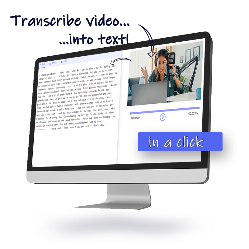 Automatically Transcribe Video to Text Online