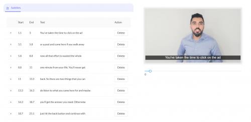 Auto generate subtitles in a few clicks with Imvidu